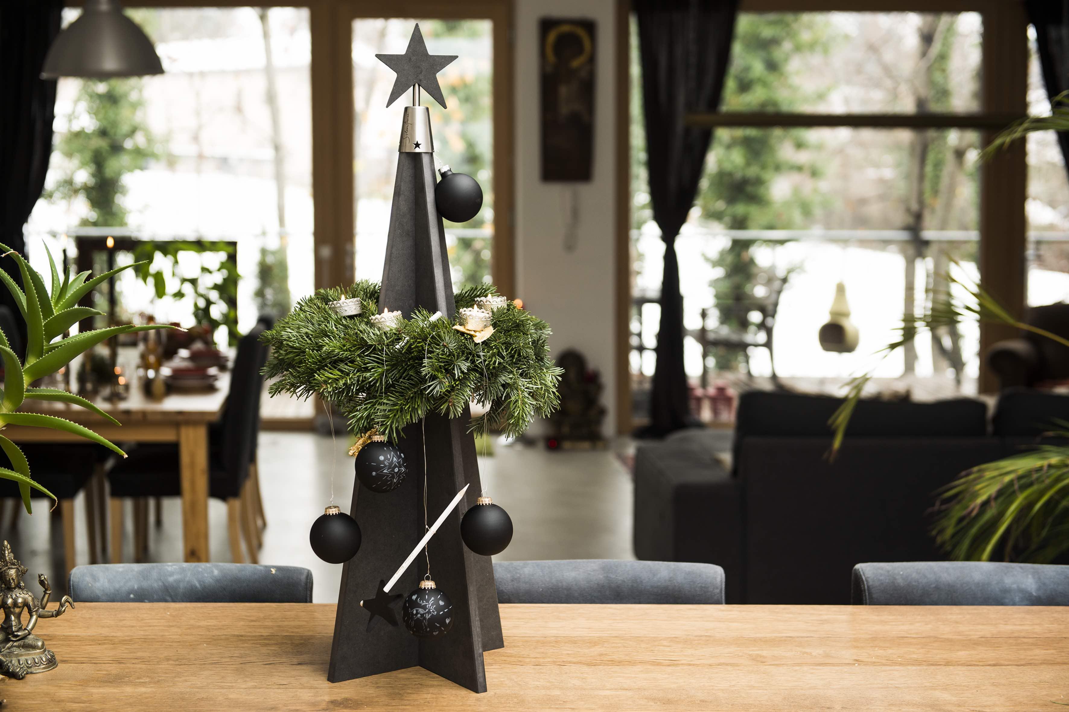 Weihnachtsdeko Baum Holz.Presse Silentree